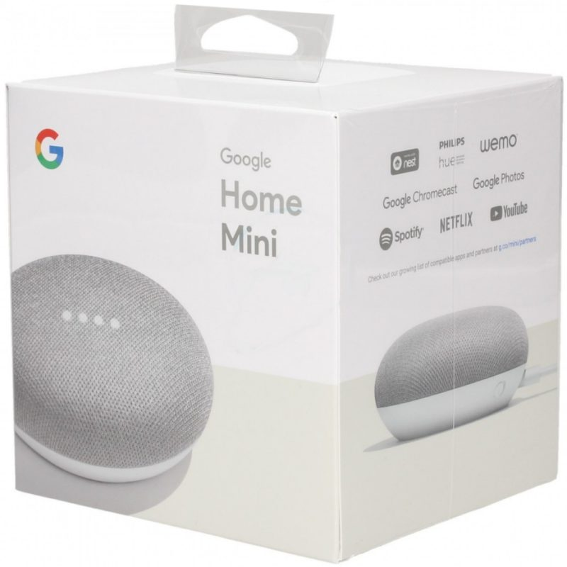 Google Home Mini en caja