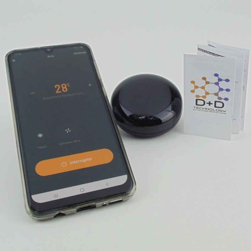 Control remoto infrarrojo inteligente WiFi TuyaSmart, con control de aire acondicionado y manual D+D Technology