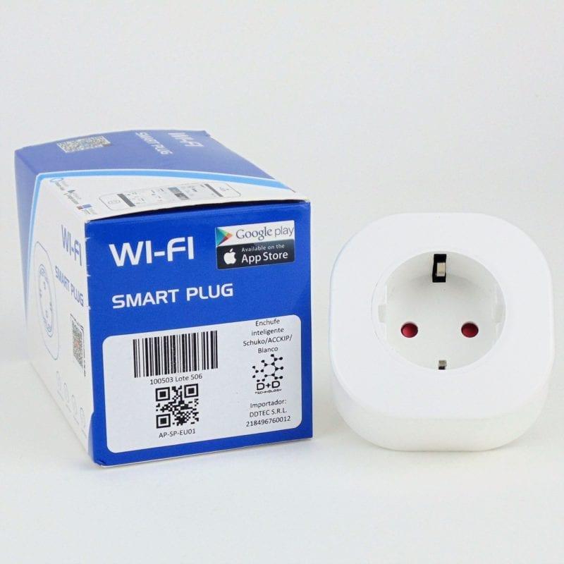 Enchufe schuko inteligente WiFi TuyaSmart con caja