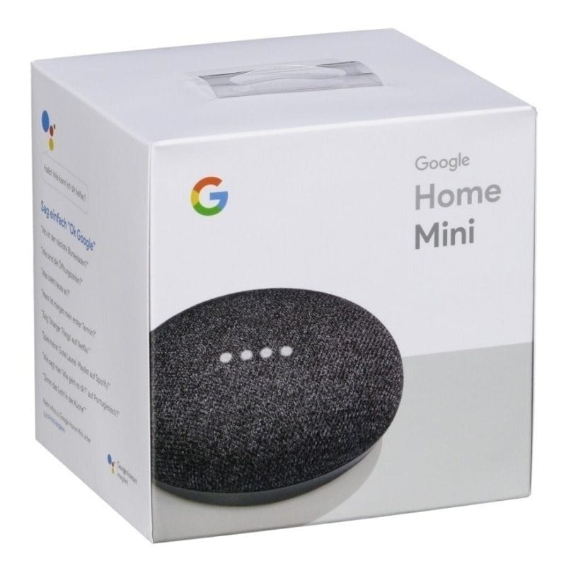 Google Home Mini Charcoal caja