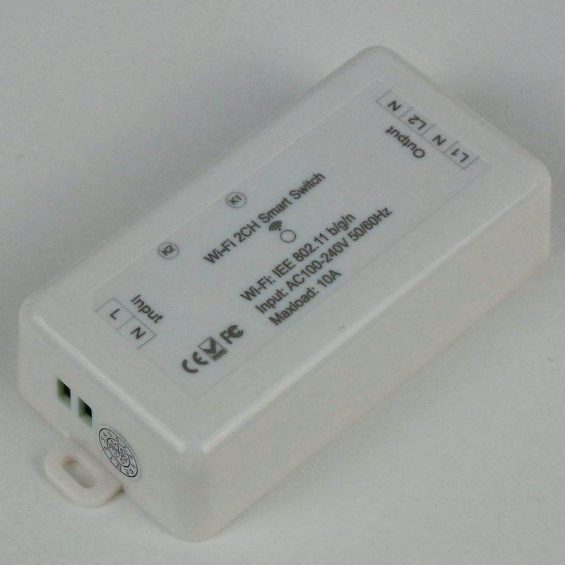 Interruptor inteligente WiFi TuyaSmart de dos circuitos