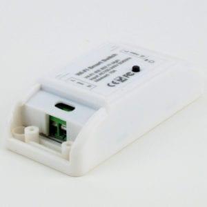 Interruptor inteligente de un circuito WiFi TuyaSmart, bornera vista