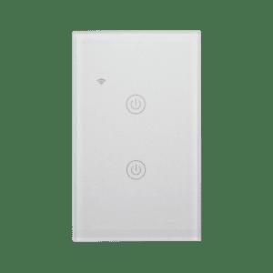 Llave inteligente WiFi TuyaSmart blanca de dos teclas