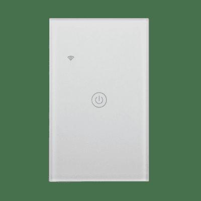 Llave inteligente WiFi blanca de una tecla, TuyaSmart