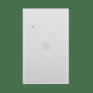 Llave de pared blanca WiFi Inteligente TuyaSmart, una tecla