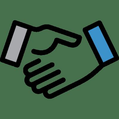Logo apretón de manos o handshake