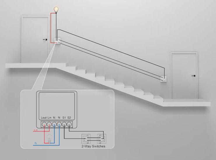 Mini switch 1 circuito WiFi Inteligente TuyaSmart conexión en combinación