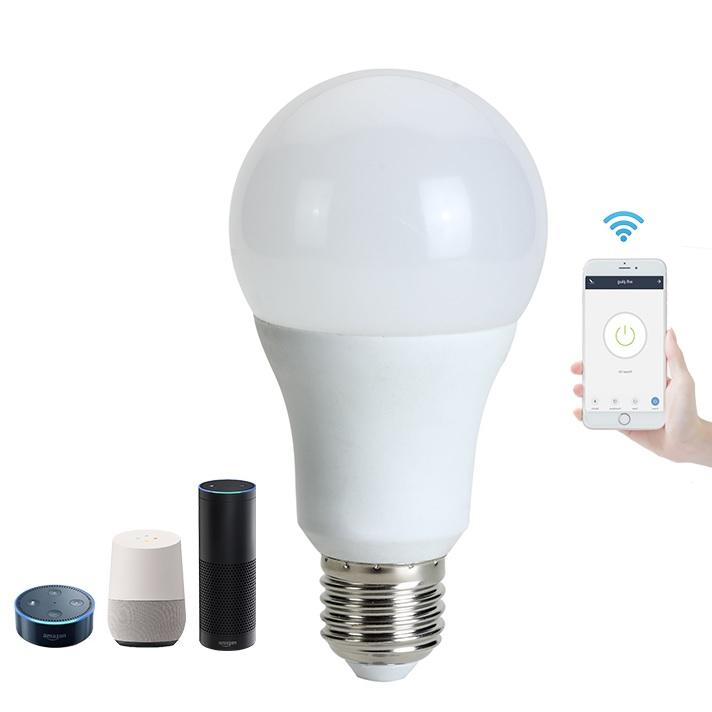Lámpara RGBCW en blanco con mano
