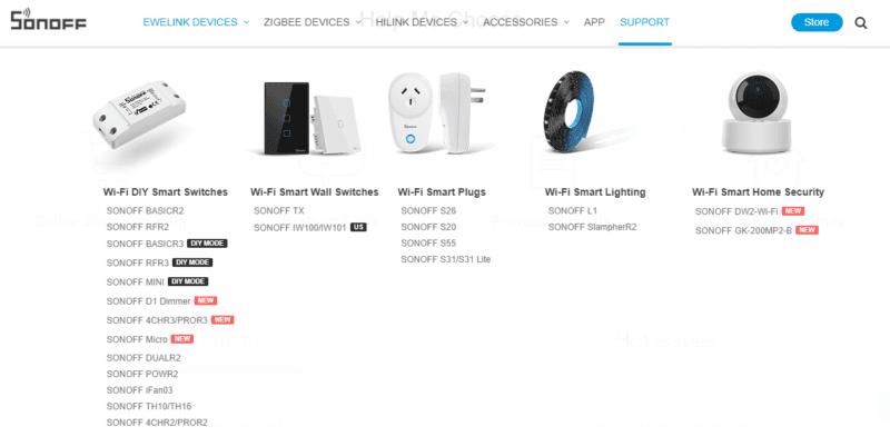 Sonoff portfolio de productos