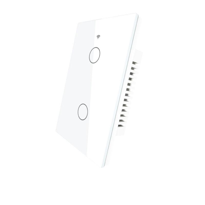 Llave táctil 2 Teclas WiFi+BT+RF Inteligente TuyaSmart