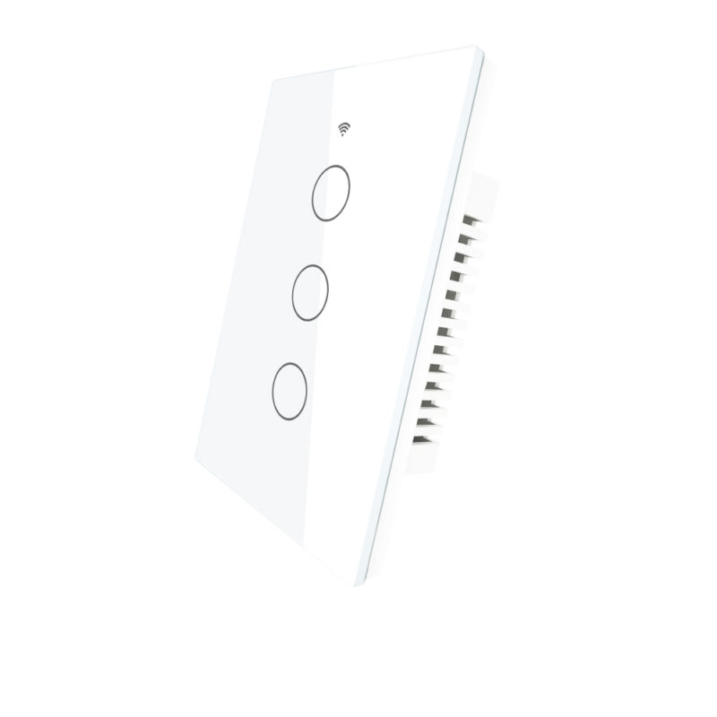 Llave táctil 3 Teclas WiFi+BT+RF Inteligente TuyaSmart blanca